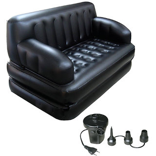 EI Bestway Portable Inflatable 5 in 1 Sofa Cum Bed With Air Pump Free Delivery