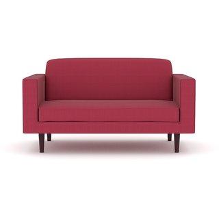 Tezerac -Dearborn Two Seater Sofa - Red