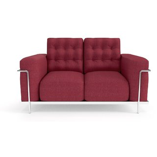 Tezerac -Zion Two Seater Sofa - Red