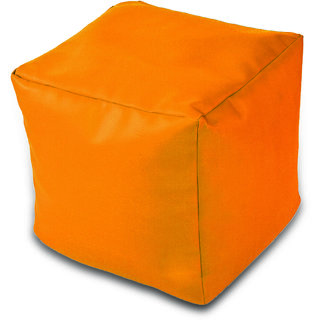 Dolphin Footstool Puffy Bean Bag-Yellow-With Bean/Filled
