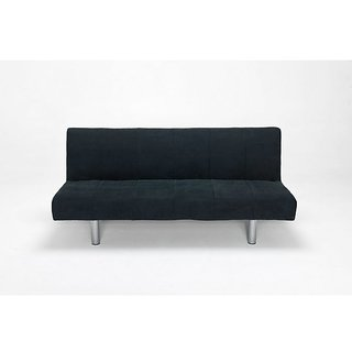 Fabhomedecor - Kia Fabric Sofabed - Black Color