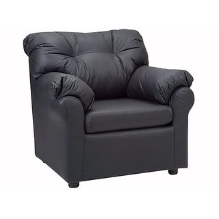 Elzada Comfy One Seater Sofa In Black Colour By Fabhomedecor(Fhd190)