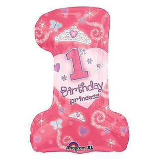 First Birthday Princess #1 Balloon