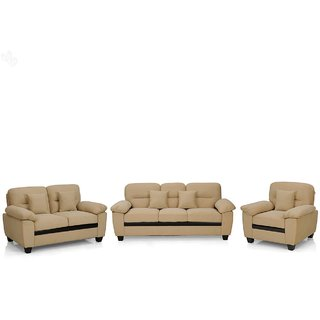 FNU Six Seater Sectional Sofa Set 3-2-1 (Beige)
