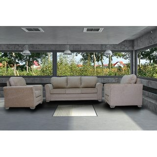 Perfekt FNU Five Seater Sofa Set 3 1 1 (Beige)