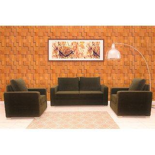 FNU Straight Line Five Seater Sofa Set 3-1-1 (Grey)