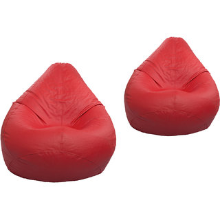 Styleco XXXL Red Bean Bag Cover Buy 1 Get 1