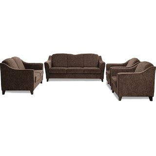 FNU Seven Seater Sofa Set 3+2+1+1 (Wheat Brown)