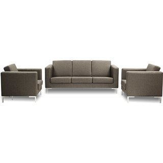 FNU Five Seater Sofa Set 3+1+1 (Roster Slate)