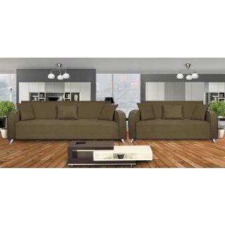 Dolphin Cabana Fabric 3+2 Seater Sofa Set - Grey