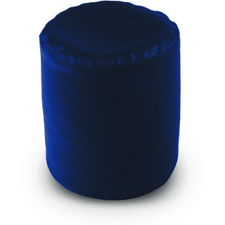 Dolphin Footstool Puffy Bean Bag-N.Blue (Round)-With Bean/Filled