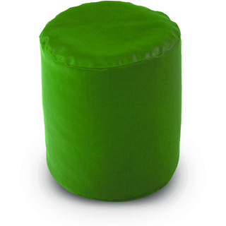 Dolphin Footstool Puffy Bean Bag-Bottle Green (Round)-With Bean/Filled