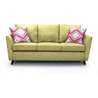 Rio Brilliance Fabric 3+2+1 Seater Olive Green Sofa By Urban Living