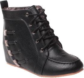 MSC-ANKLE LENGTH BLACK BOOTS (MSC-RR79-772-5-BLACK BOOTS)