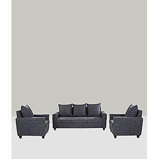 FNU Five Seater Sectional Sofa Set 3-1-1 (Grey)