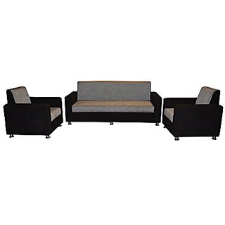 FNU Five Seater Sectional Sofa Set 3-1-1 (Black)