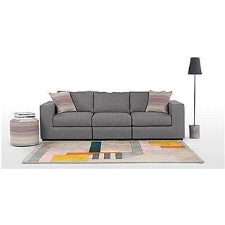 FNU Five Seater Sectional Sofa Set 3-1-1 (Light Grey)