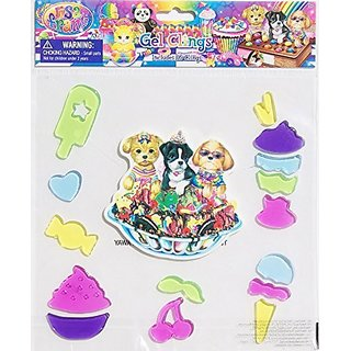 Girls Bedroom Decor Lisa Frank Gel Window Clings - 16 Piece