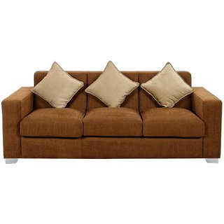 FNU Five Seater Sofa Set 3-2 (Brown)