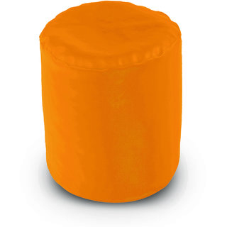 Dolphin Footstool Puffy Bean Bag-Yellow (Round)-With Bean/Filled