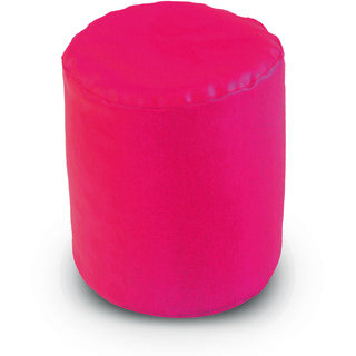 Dolphin Footstool Puffy Bean Bag-Pink (Round)-With Bean/Filled