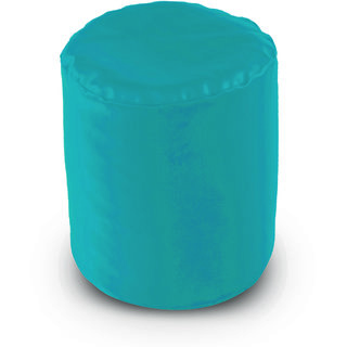 Dolphin Footstool Puffy Bean Bag-Turqoise (Round)-With Bean/Filled