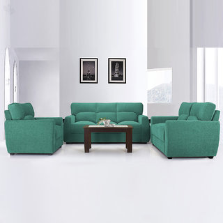 Vive Octo Sofa Set with Teal Upholstery
