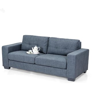 Royal Oak Berlin Three Seater Sofa With Grey Upholstery