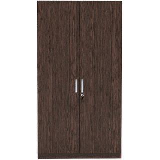 INTEX STYLES - NEWPORT TWO DOOR WARDROBE (WENGE COLORED)