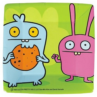 Uglydoll Square Dessert Plates Party Accessory by KidsPartyWorld.com