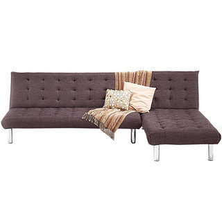 Corner Sofa Cum Bed In Brown Colour By Fabhomedecor(Fhd154)