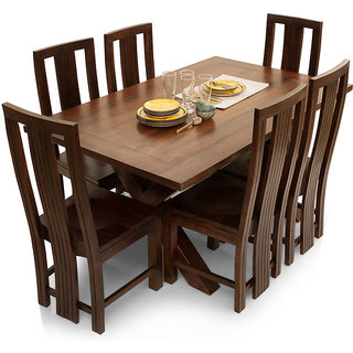 Buy Shagun Arts Clovis Capra 6 Seater Dining Table Set Online