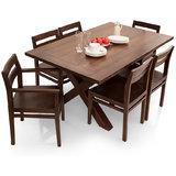 Shagun Arts   Clovis  6 Seater Dining Table Set With Armchair
