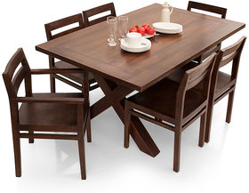 Shagun Arts - Clovis- 6 Seater Dining Table Set(With Armchair)