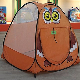 Anyshock Waterproof Indoor and Outdoor Large Space Play House Castle Tent Toys With Owl Pattern as a Best Christmas Gift