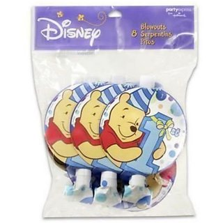 Winnie the Pooh Boys 1st Birthday Blowouts Favors (8ct)