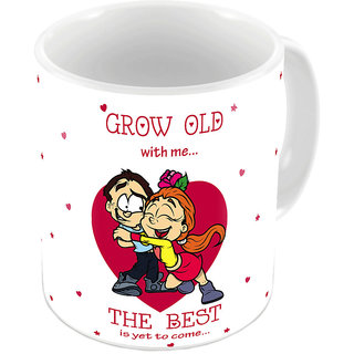 Kaarigar White Designer Romantic Printed Coffee Mug 640