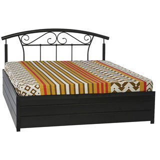 Metal Queen Bed - Lift On