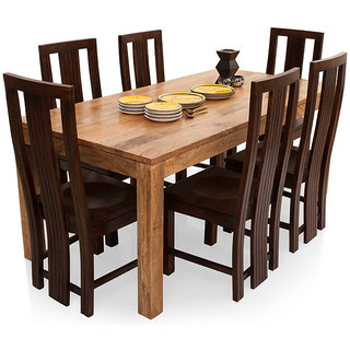 Buy Shagun Arts Gresham Capra 6 Seater Dining Table Set Online