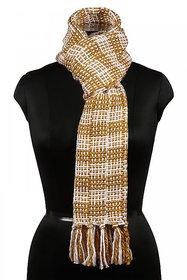 Bunai Multicolor Acrylic Self Design Scarves