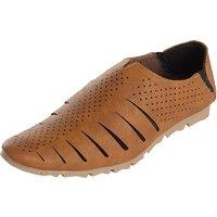 Kolapuri Centre Men's Tan Slip On Outdoor Sandals - 103265048
