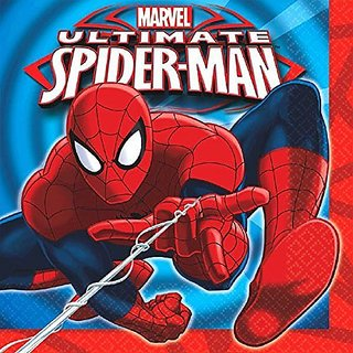 16 Count Spider-Man Lunch Napkins, Multicolored