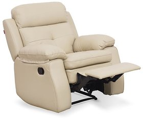 INTEX STYLES - ACE MANUAL RECLINER (BEIGE COLORED)