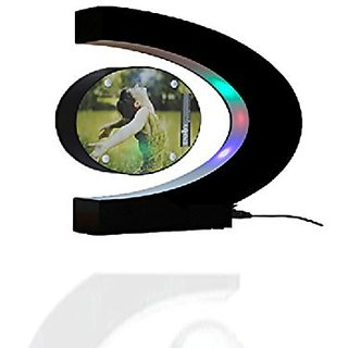 Glovion DIY C Shape Magnetic Levitation Anti Gravity Suspending Photo Picture Frame -Colorful Decoration Light