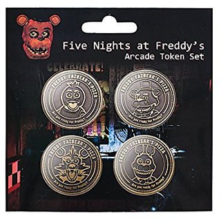 Five Nights at Freddys Arcade Token Set