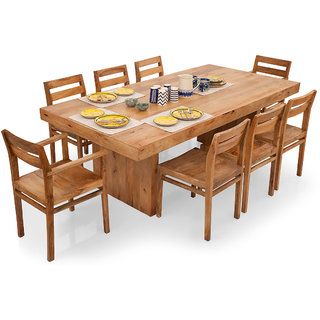 buy shagun arts jordan 8 seater dining table set online. Black Bedroom Furniture Sets. Home Design Ideas