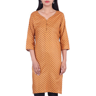 BleuIndus Multicolor Cotton Stitched  Kurti