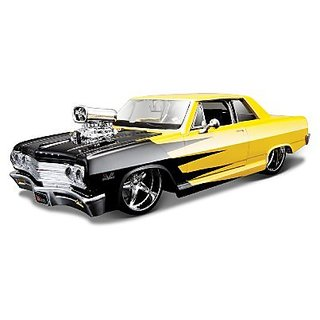 Maisto 1:24 Scale AS PS 1965 Chevrolet Malibu SS Diecast Vehicle (Colors May Vary)