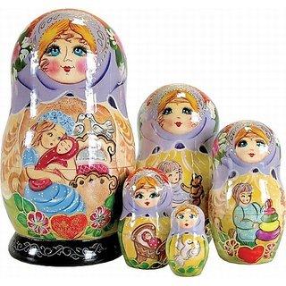 G. Debrekht Mother Love Nested Doll, 6