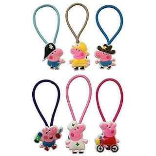 Peppa Pig Colorful Hairband Ponytail Holder 6 Pcs Set #2